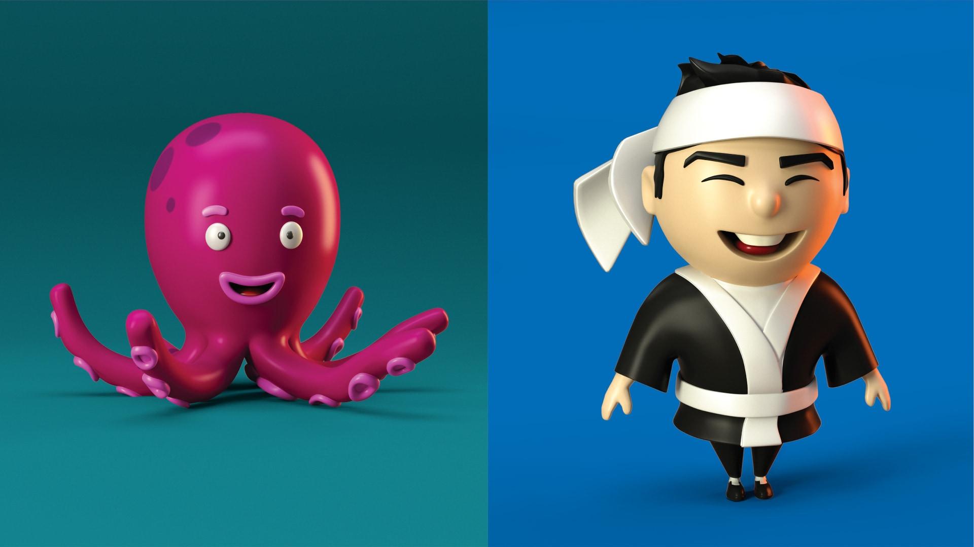 Personajes Sushi